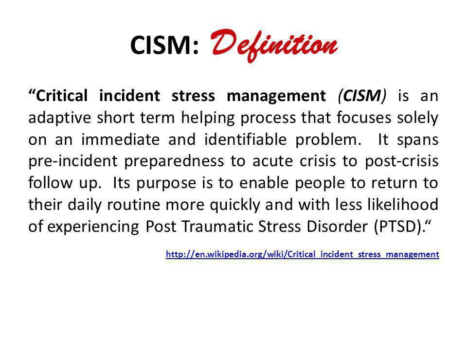 CISM: Definition