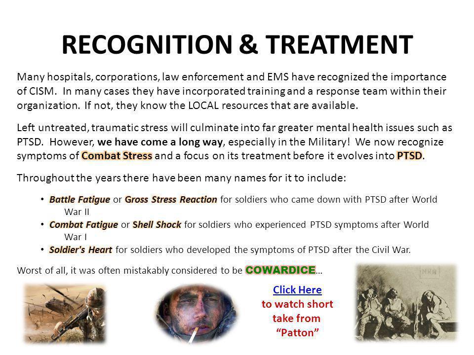 RECOGNITION & TREATMENT