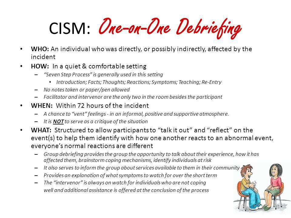 CISM: One-on-One Debriefing