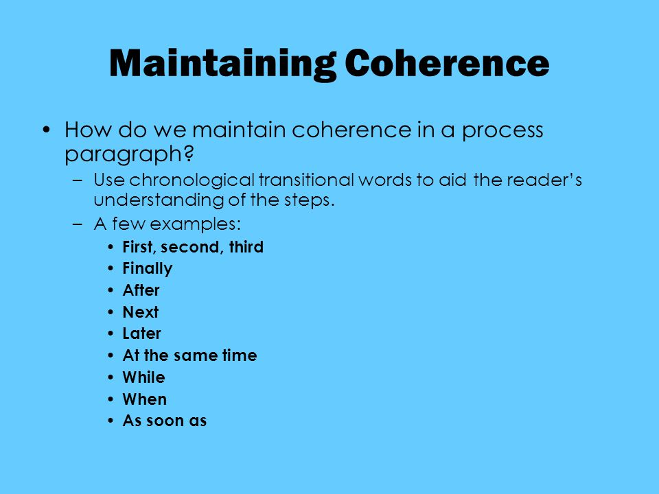coherence in writing a paragraph 3rd