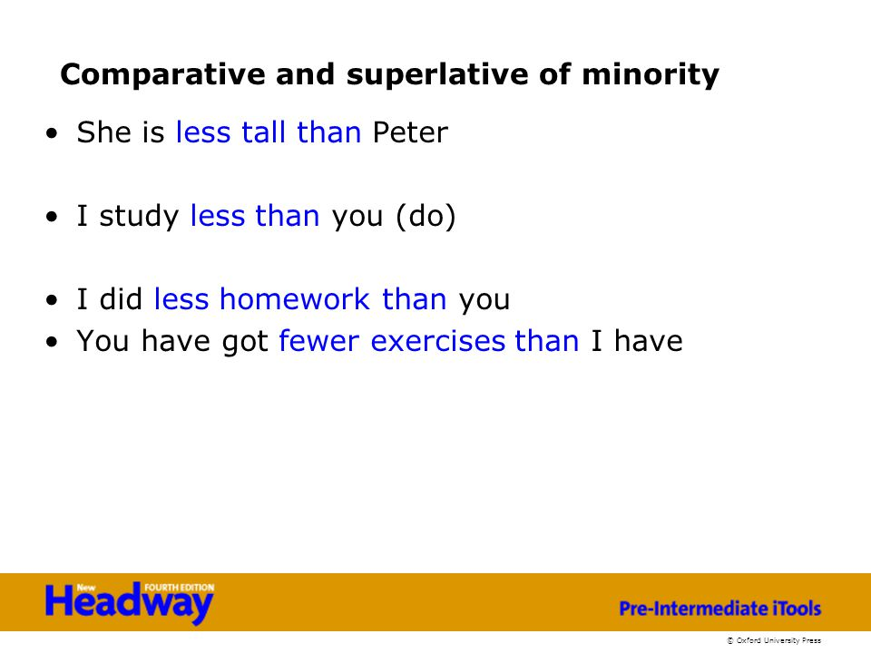 Comparative and superlative of minority