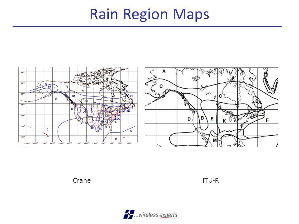 Rain Region Maps Crane ITU-R