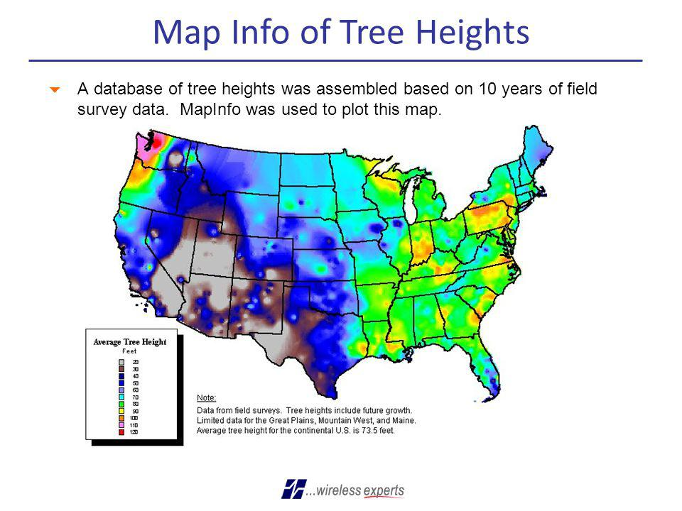 Map Info of Tree Heights