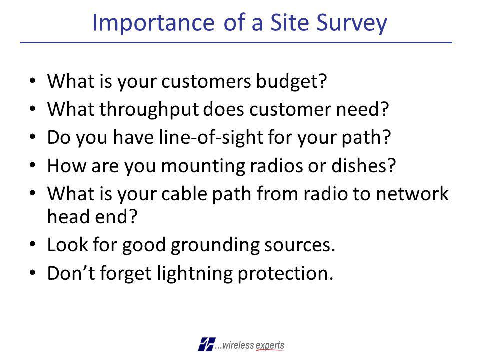 Importance of a Site Survey