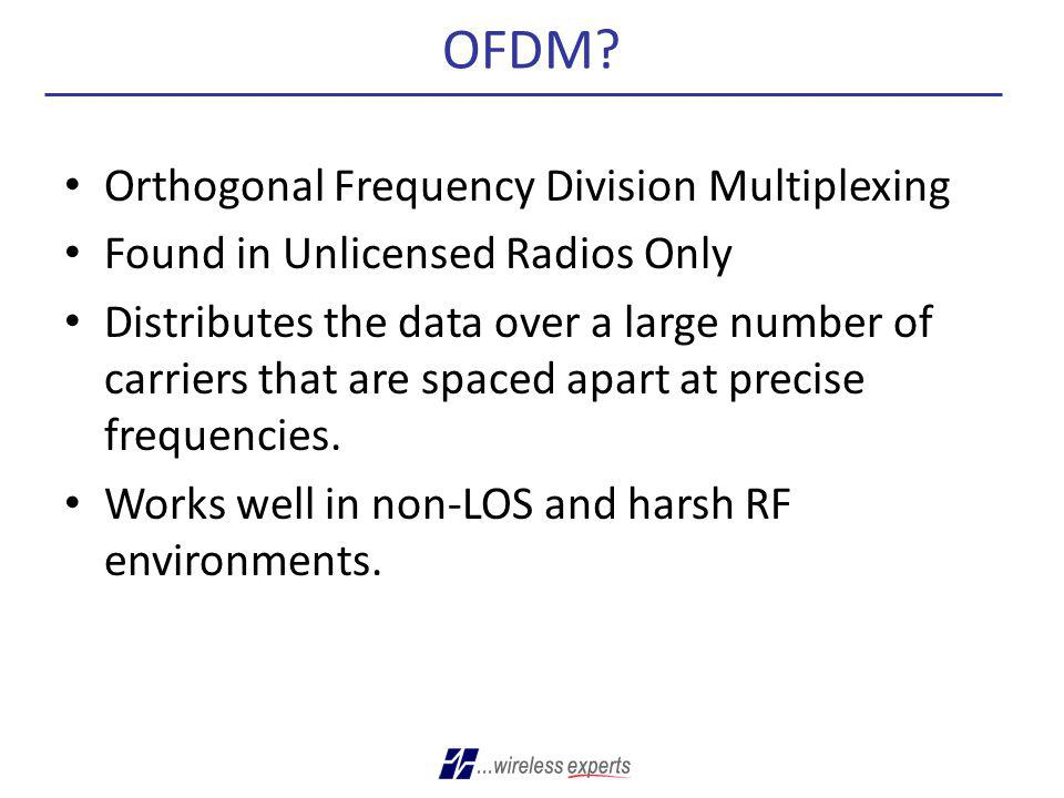 OFDM Orthogonal Frequency Division Multiplexing