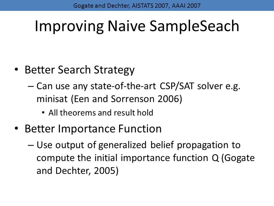 Improving Naive SampleSeach
