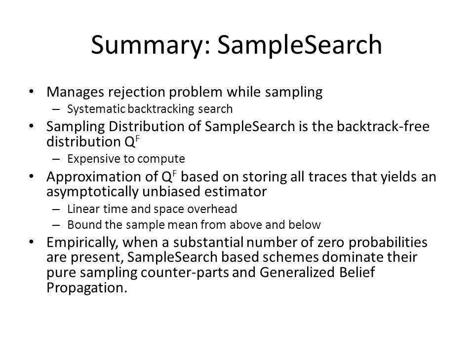 Summary: SampleSearch