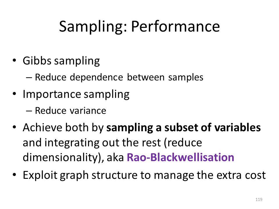 Sampling: Performance