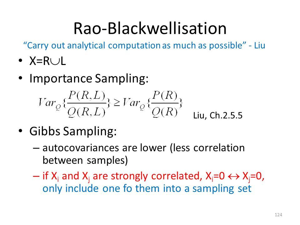 Rao-Blackwellisation
