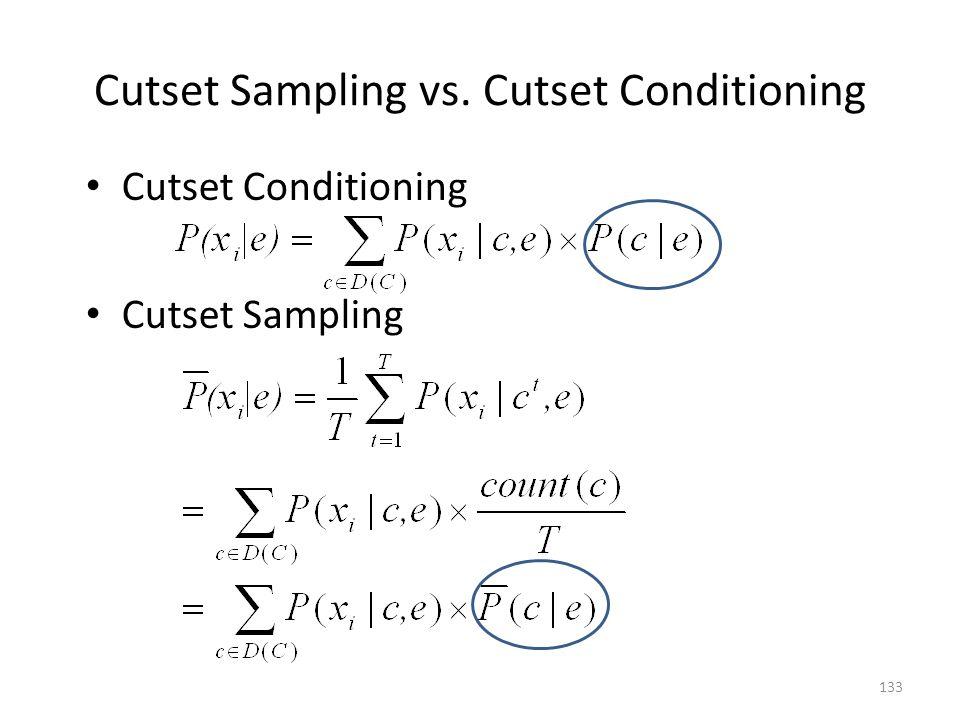 Cutset Sampling vs. Cutset Conditioning