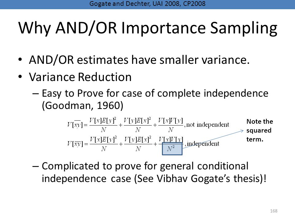 Why AND/OR Importance Sampling