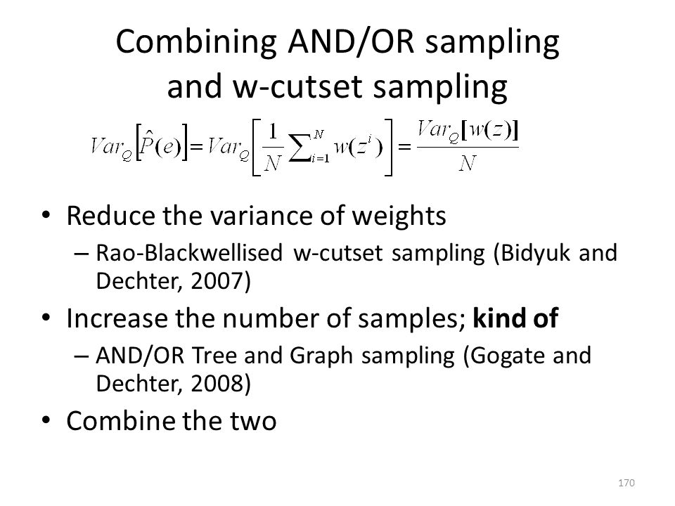 Combining AND/OR sampling and w-cutset sampling