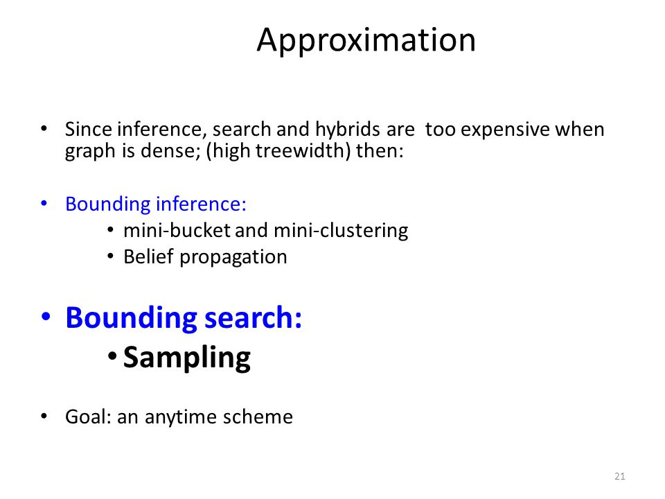 Approximation Bounding search: Sampling