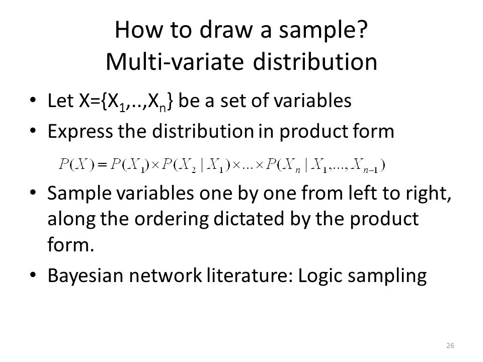 How to draw a sample Multi-variate distribution