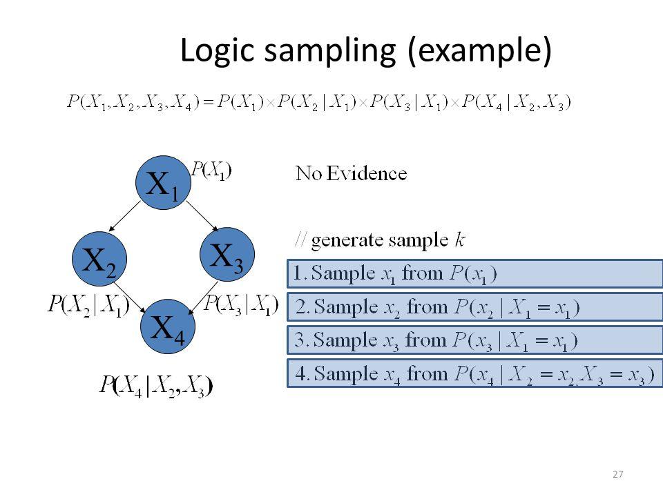 Logic sampling (example)