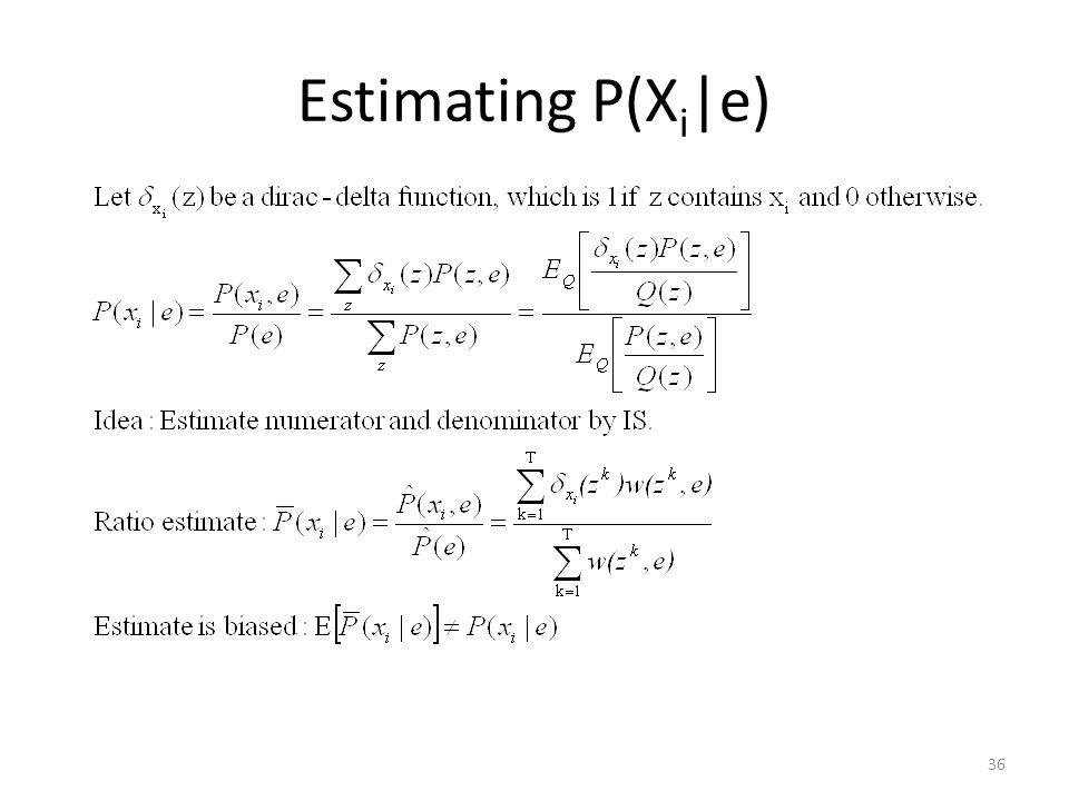 Estimating P(Xi|e)