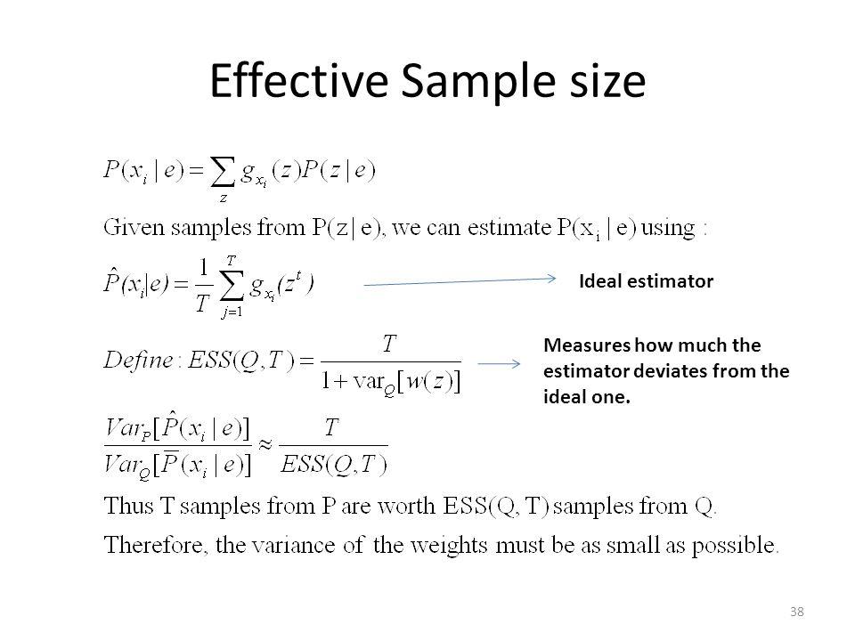 Effective Sample size Ideal estimator