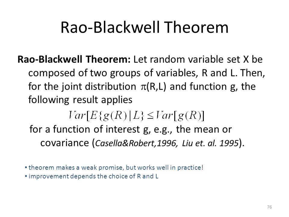 Rao-Blackwell Theorem