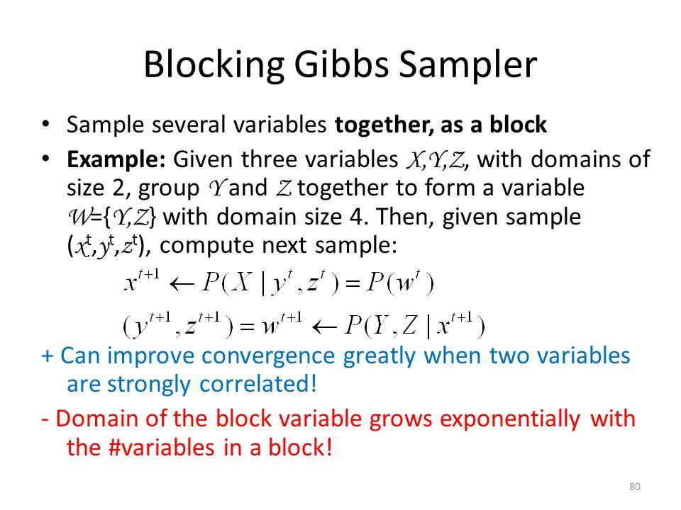 Blocking Gibbs Sampler