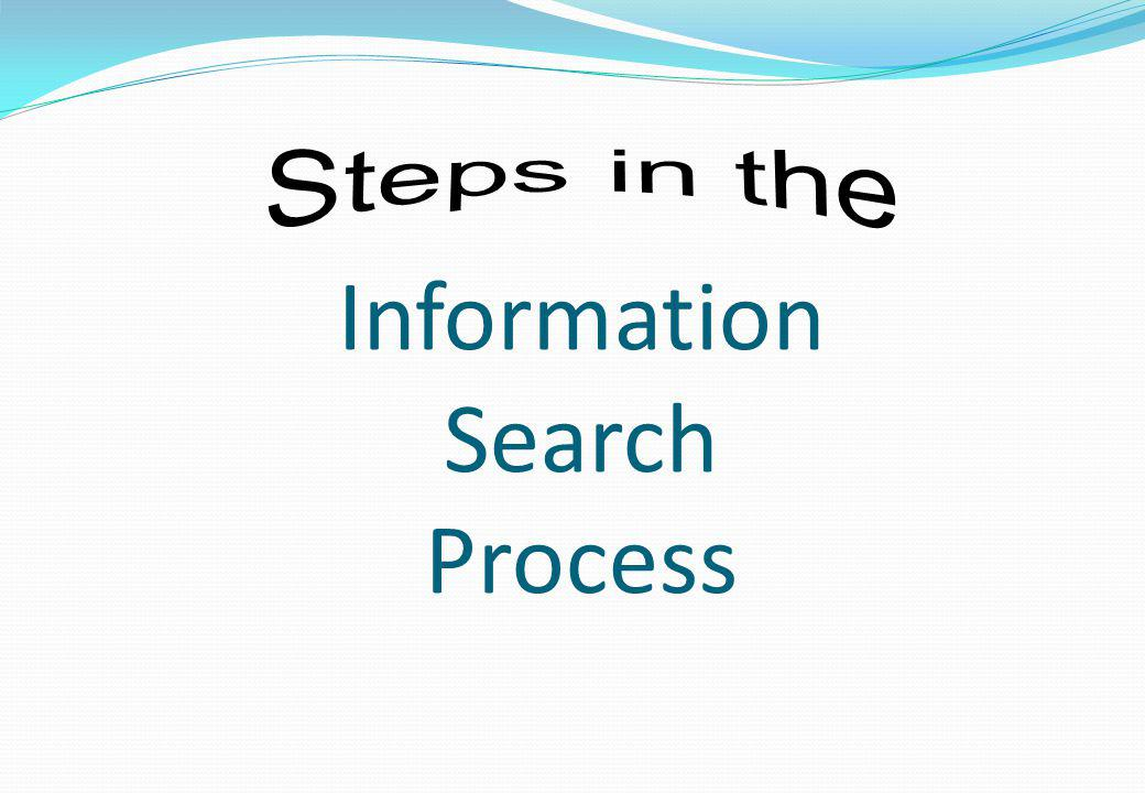 Information Search Process