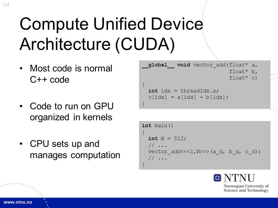 Compute Unified Device Architecture (CUDA)
