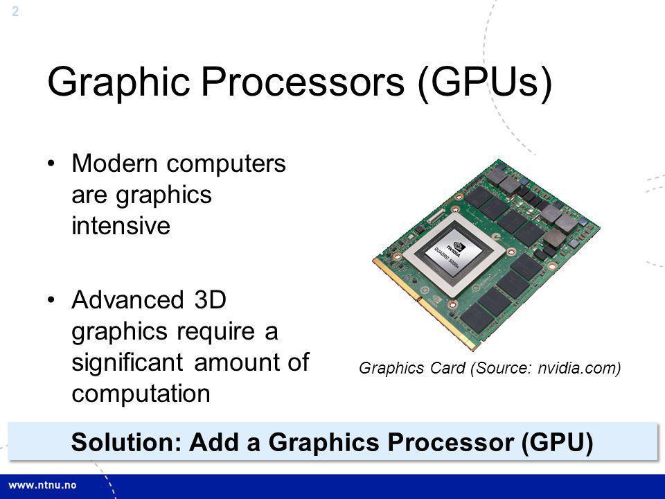 Graphic Processors (GPUs)