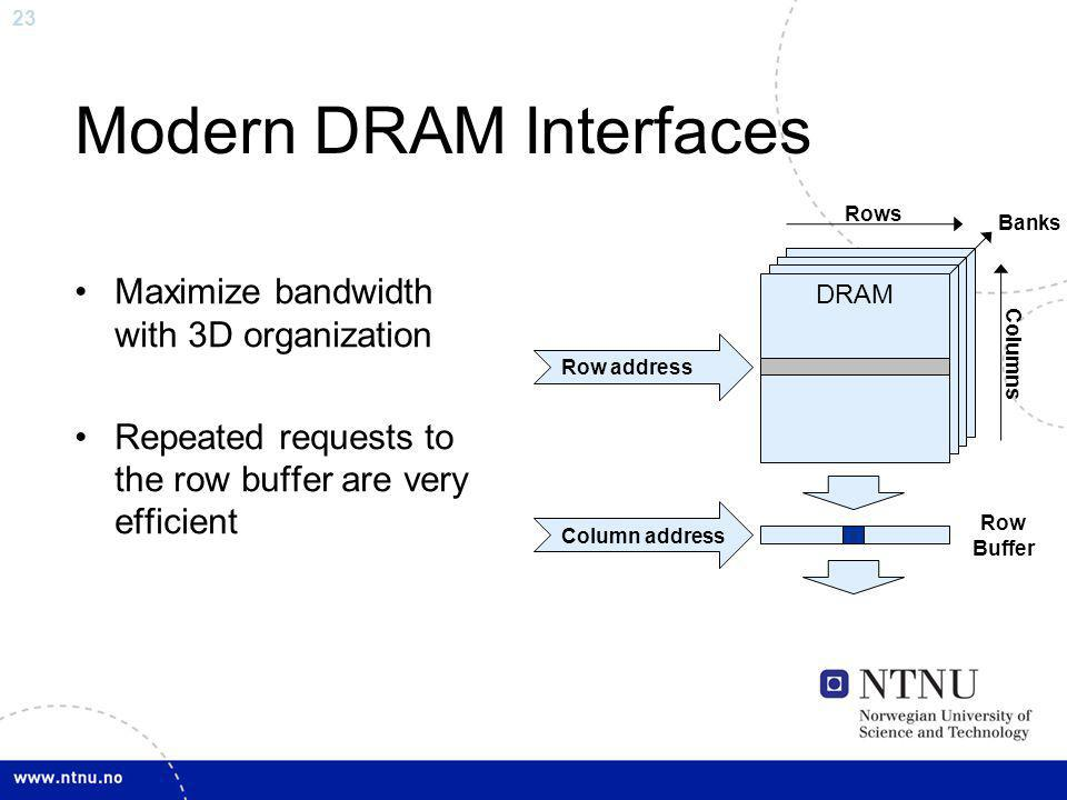 Modern DRAM Interfaces