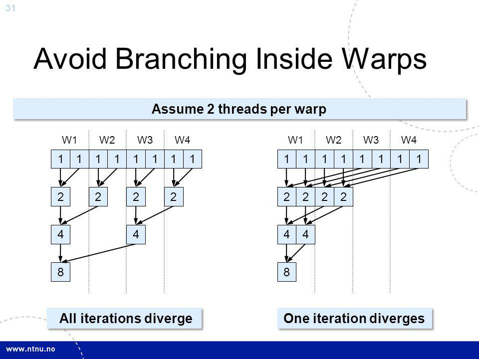 Avoid Branching Inside Warps