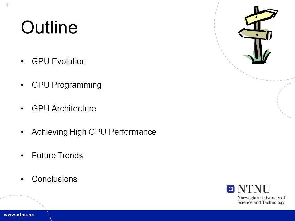 Outline GPU Evolution GPU Programming GPU Architecture