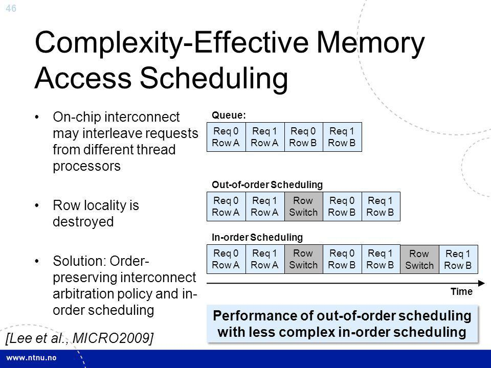Complexity-Effective Memory Access Scheduling