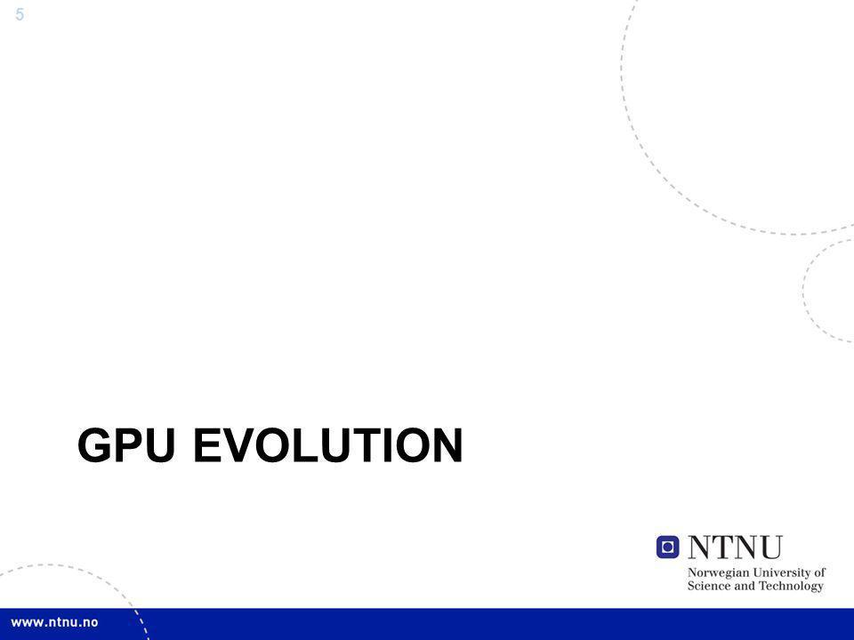 GPU Evolution