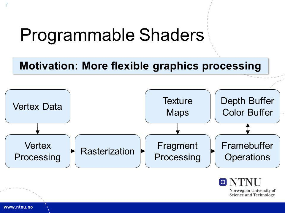 Motivation: More flexible graphics processing