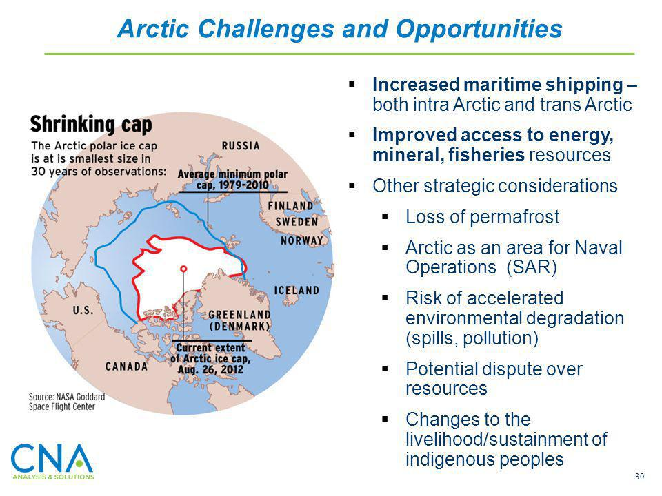 Arctic Challenges and Opportunities