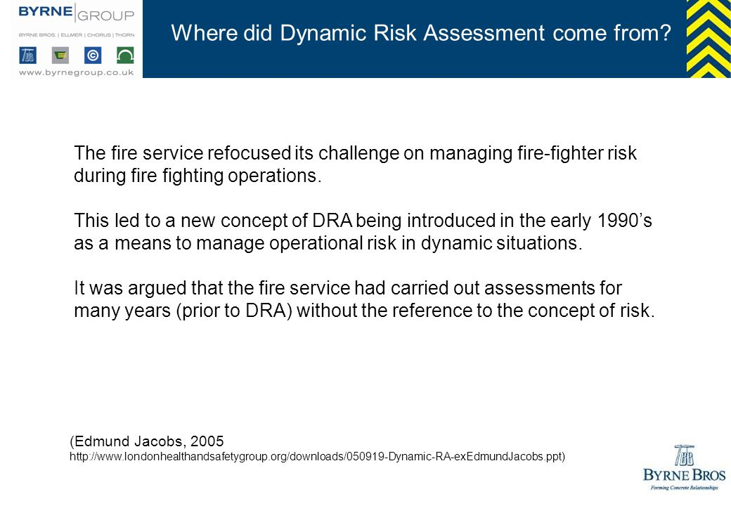 Where did Dynamic Risk Assessment come from