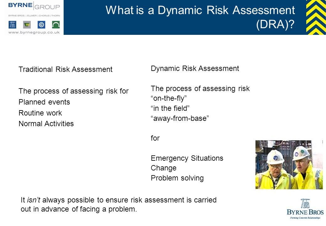 What is a Dynamic Risk Assessment (DRA)