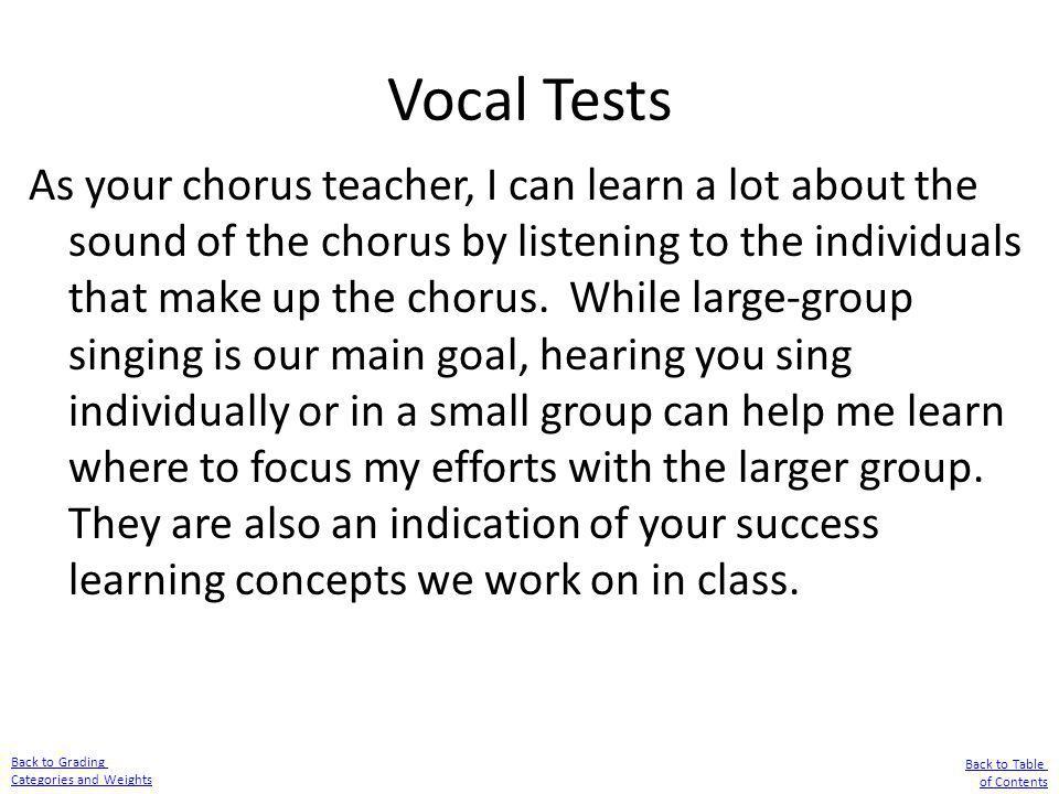 Vocal Tests