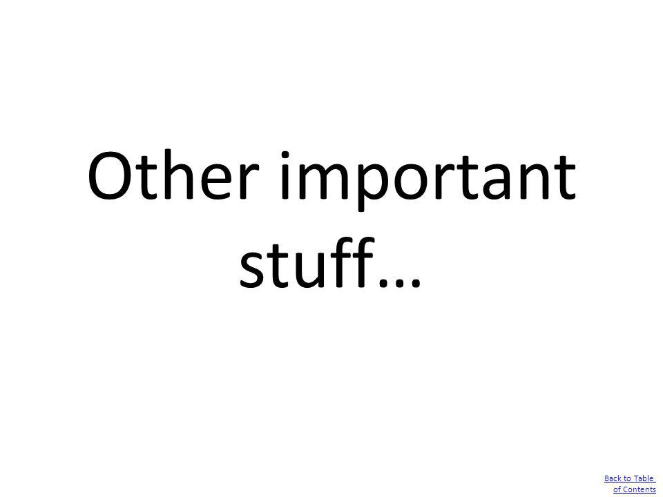 Other important stuff…