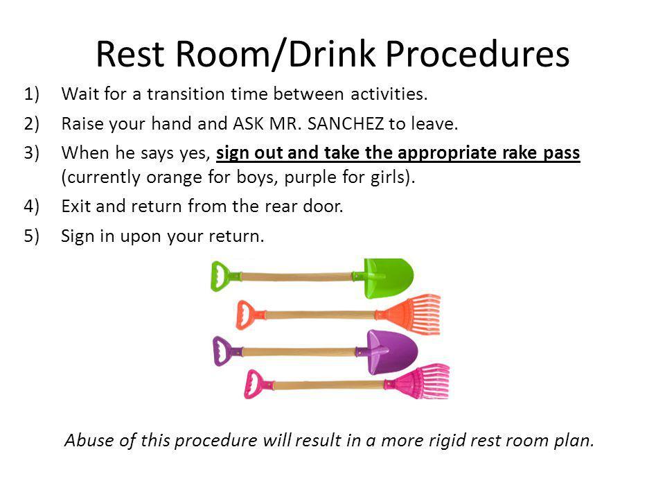Rest Room/Drink Procedures