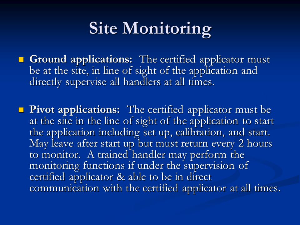 Site Monitoring