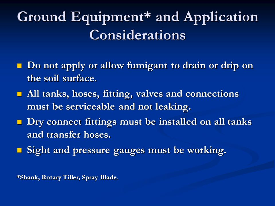 Ground Equipment* and Application Considerations