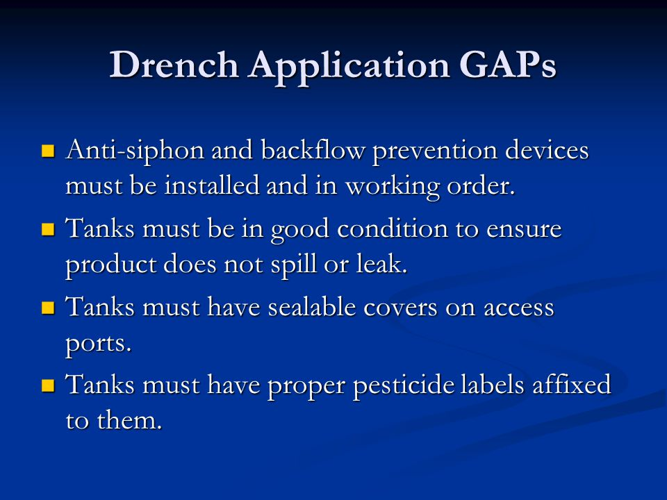Drench Application GAPs
