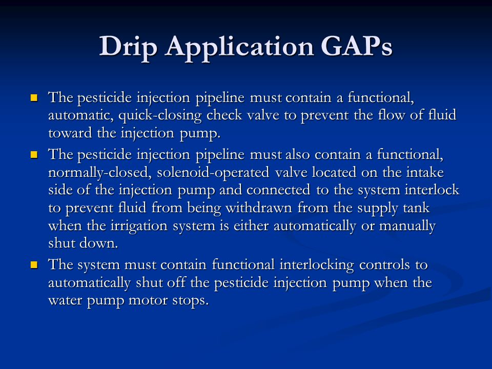 Drip Application GAPs