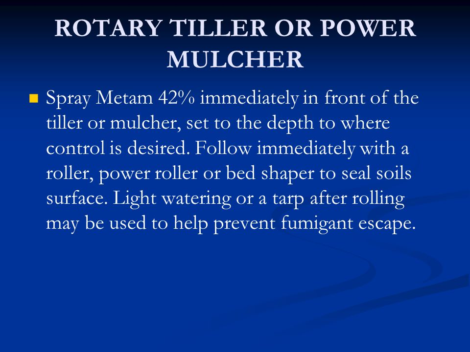 ROTARY TILLER OR POWER MULCHER