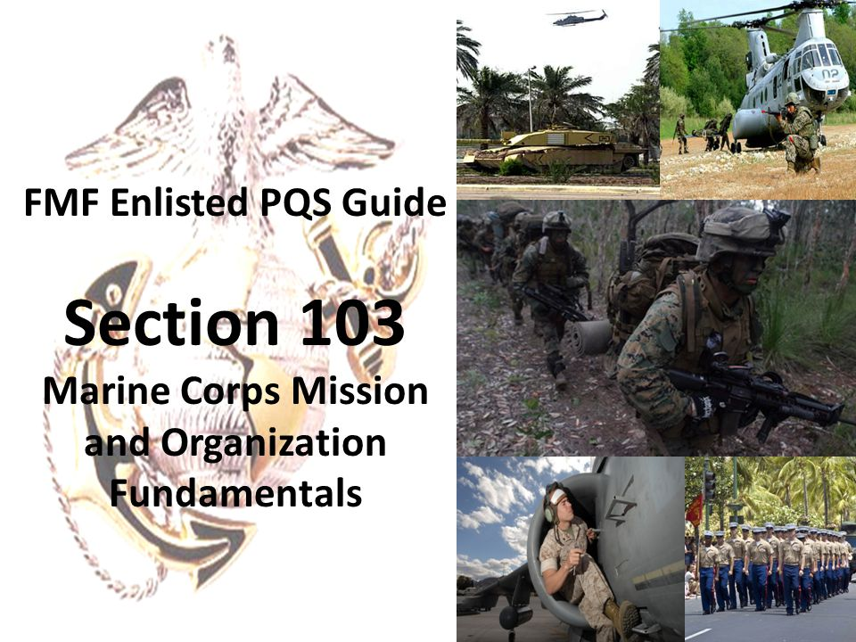 Marine Corps Mission and Organization Fundamentals