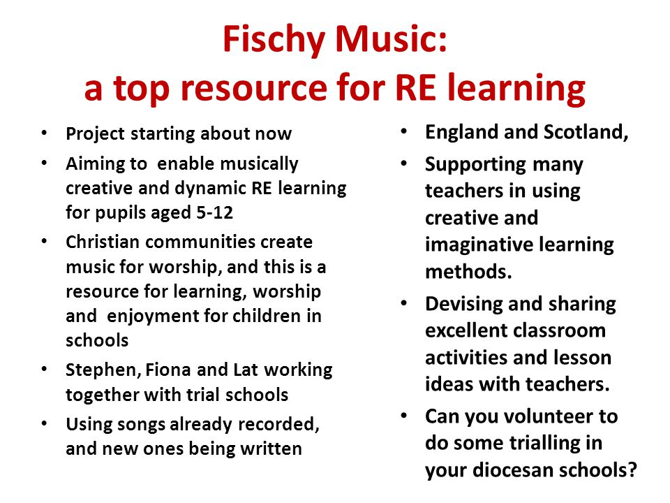 Fischy Music: a top resource for RE learning