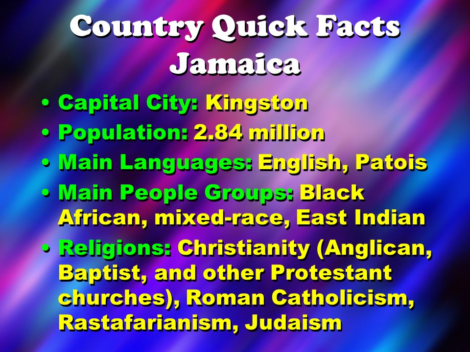 Country Quick Facts Jamaica