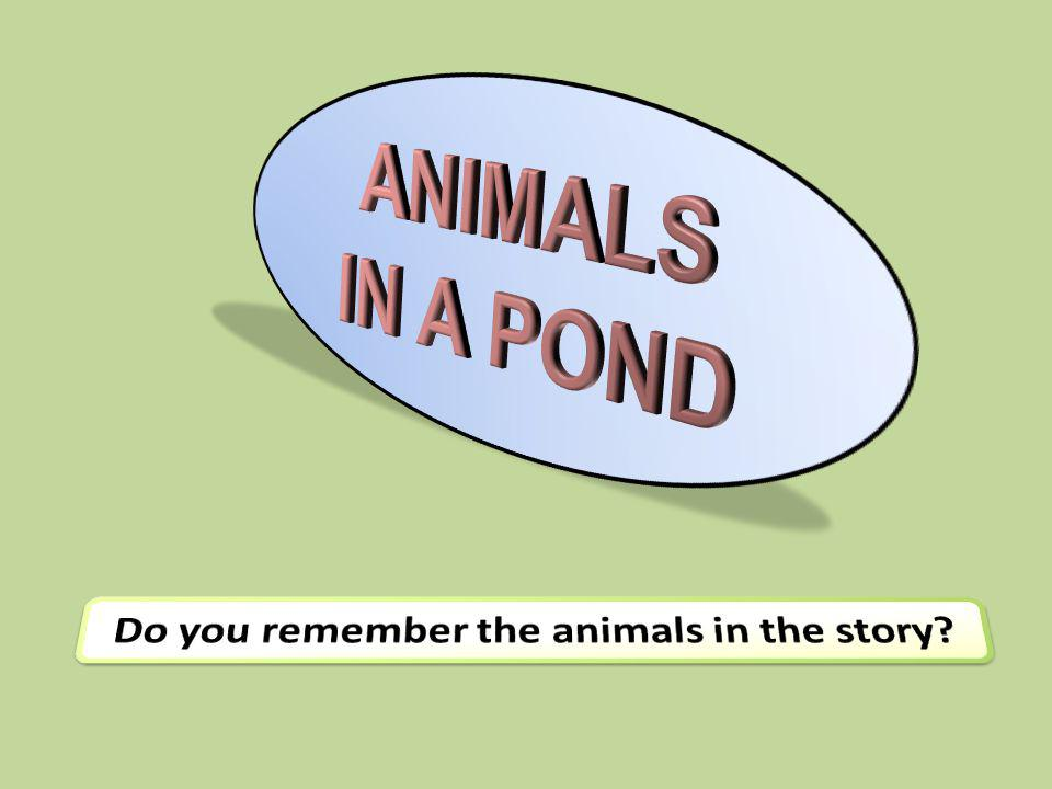 Do you remember the animals in the story