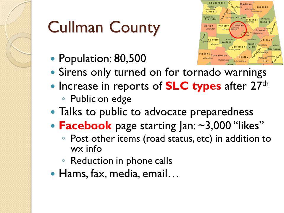 Cullman County Population: 80,500