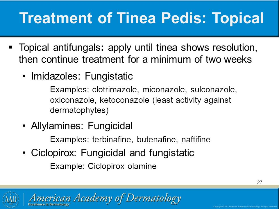 Treatment of Tinea Pedis: Topical