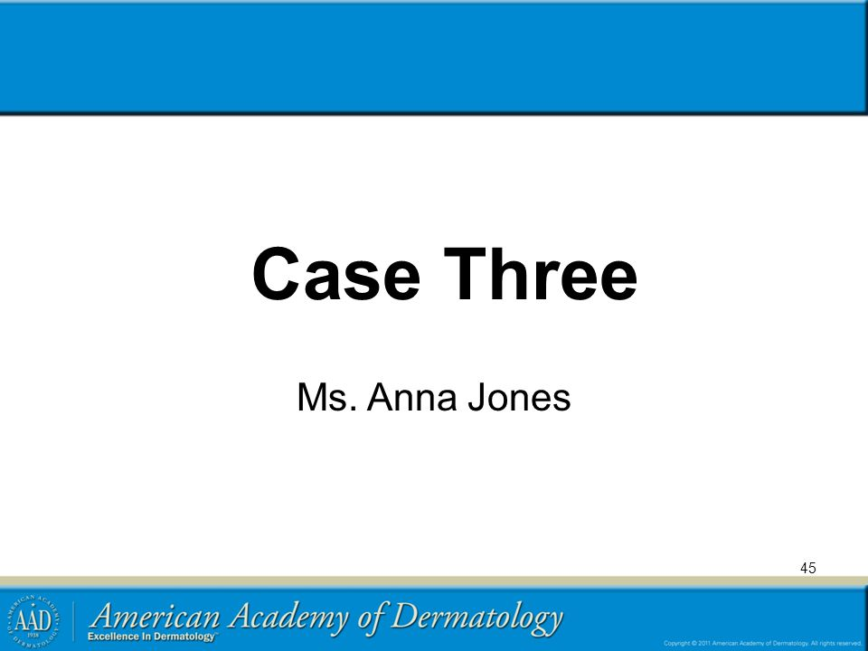 Case Three Ms. Anna Jones